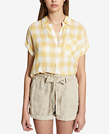 Sanctuary Mod Short-Sleeve Boyfriend Shirt