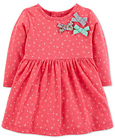 Carter's Baby Girls Floral-Print Bows Cotton Dress