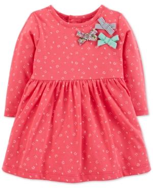 Carters Baby Girls FloralPrint Bows Cotton Dress