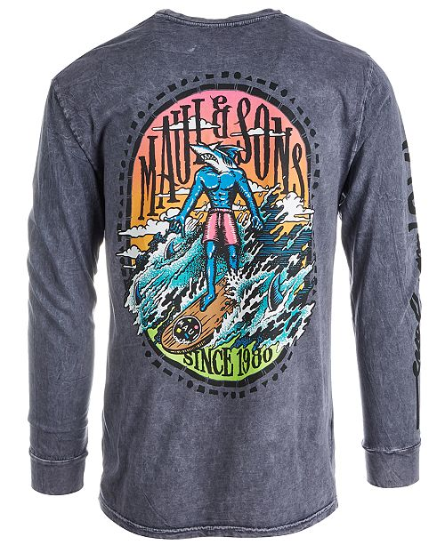 df30bcc4f Maui and Sons Men's Graphic Long Sleeve T-Shirt & Reviews - T-Shirts ...
