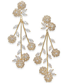 kate spade new york Crystal Flower Statement Earrings