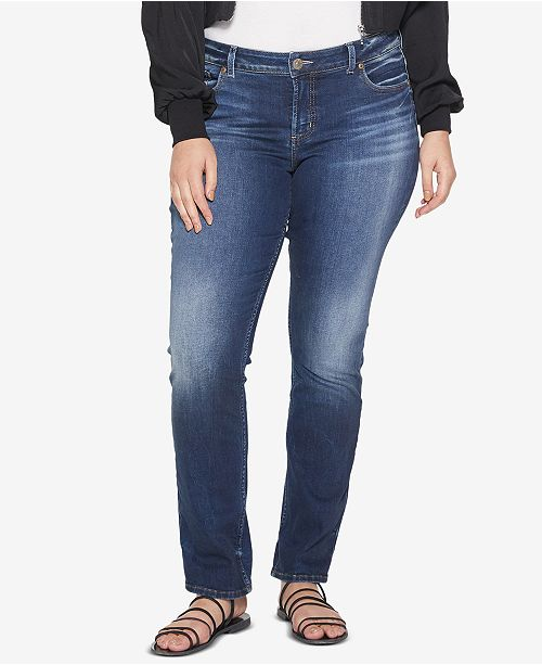 5f3f9ea588a Plus Size Elyse Stretch Straight Jeans. Be the first to Write a Review.   89.00. Free ship at  48 Free ship at  48 Details Details. main image  main  image ...