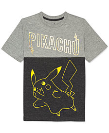 Pokémon Big Boys Pikachu Graphic-Print T-Shirt