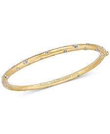 kate spade new york Gold-Tone Crystal Bangle Bracelet