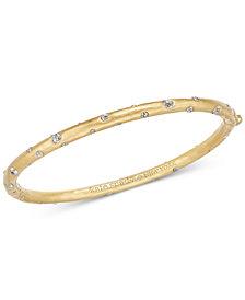 kate spade new york Gold-Tone Crystal Bangle Bracelet