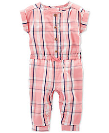Carter's Baby Girls Plaid Jumpsuit
