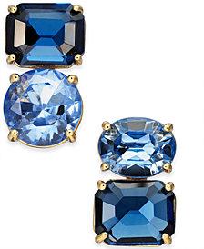 kate spade new york Gold-Tone Double-Stone Mismatch Stud Earrings