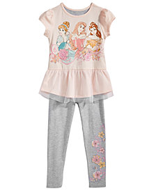 Disney Little Girls 2-Pc. T-Shirt & Legging Set