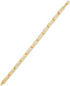 Greek Key Link Bracelet in 14k Gold