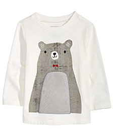 First Impressions Toddler Girls Bear-Print Cotton Peplum Tunic, Created for Macy's