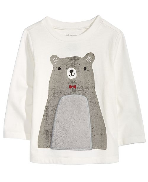 df3caa57b First Impressions Toddler Boys Bear-Print Cotton T-Shirt, Created ...