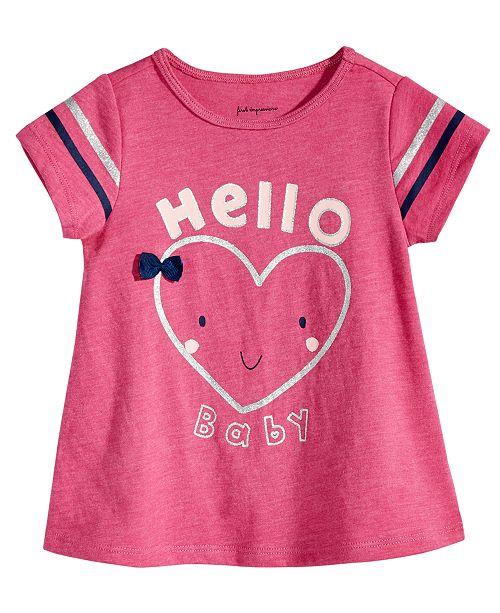deebabf42 First Impressions Baby Girls Hello-Print T-Shirt
