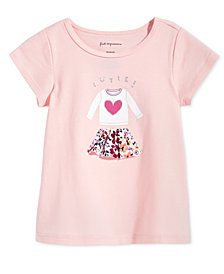 First Impressions Baby Girls Skirt-Print Cotton T-Shirt, Created for Macy's