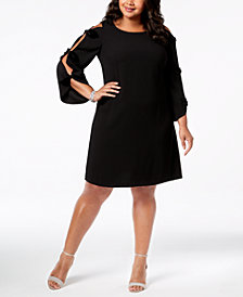 MSK Plus Size Cutout-Sleeve Shift Dress