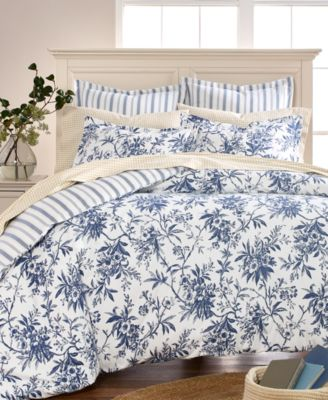 CLOSEOUT! Cozy Toile Cotton Flannel Full/Queen Duvet Cover, Created for Macy's