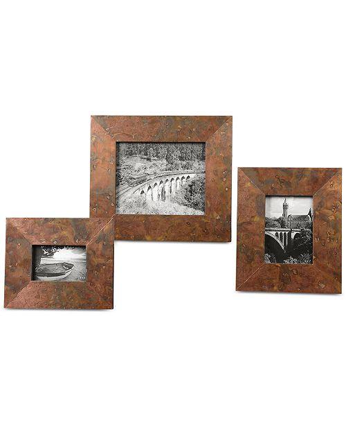 Uttermost Ambrosia Copper Photo Frames, Set of 3