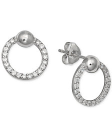 Giani Bernini Cubic Zirconia Circle Stud Earrings in Sterling Silver, Created for Macy's
