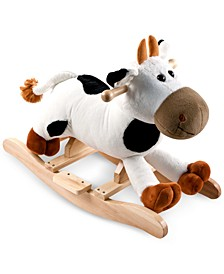 "Happy Trails Connie Cow Plush Rocking Animal with Sounds, 19.75"" x 25.5"" x 13.25"""