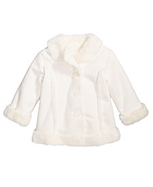 First Impressions Baby Girls Faux-Shearling Coat, Created for Macy's