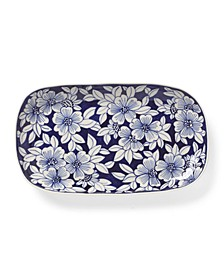 "Floral 11"" Rectangular Porcelain Tray"