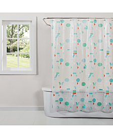 "Saturday Knight Words Printed 70"" x 72"" Shower Curtain"