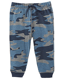 First Impressions Baby Boys Camo-Print Jogger Pants, Created for Macy's
