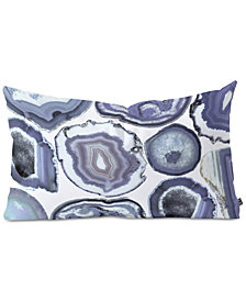 Deny Designs Emanuela Carratoni Agate Rhapsody Oblong Throw Pillow