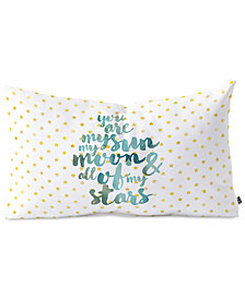 Deny Designs Hello Sayang You Are My Sun My Moon & All Of My Stars Oblong Throw Pillow