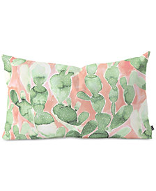 Deny Designs Jacqueline Maldonado Paddle Cactus Pale Green Oblong Throw Pillow
