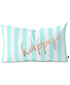 Deny Designs Monika Strigel Pretty Happy Mint Oblong Throw Pillow