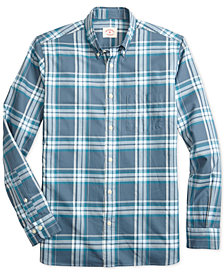Brooks Brothers Men's Red Fleece Slim-Fit Plaid Twill Shirt