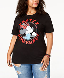 Mad Engine Plus Size Minnie Mouse Powerful T-Shirt