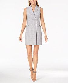 Calvin Klein Plaid Trench Dress