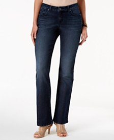 Style & Co Petite Curvy-Fit Low-Rise Boot-Cut Jeans, Created for Macy's