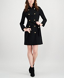 Petite Double-Breasted Coat Dress