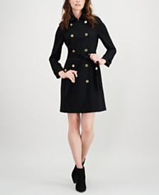 Calvin Klein Military-Coat Dress