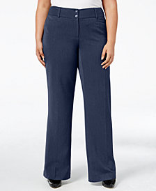 Alfani Petite Plus Size Curvy-Fit Slimming Bootcut Pants, Created for Macy's
