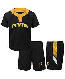 Outerstuff Pittsburgh Pirates Ground Rules Short Set, Toddler Boys (2T-4T)
