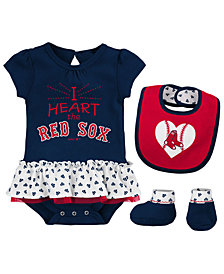 Outerstuff Boston Red Sox Bib & Booty Set, Infant Girls (0-9 Months)