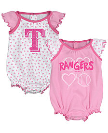 Outerstuff Texas Rangers Heart Creeper Set, Infants (0-9 Months)