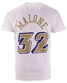 Mitchell & Ness Men's Karl Malone Utah Jazz Gold Collection Name and Number T-Shirt