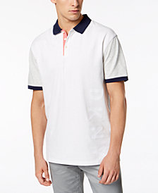 DKNY Men's Embossed Colorblocked Polo, Created for Macy's