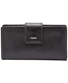Logan Leather Tab Clutch Wallet