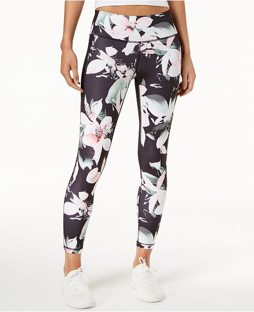 cdfc614db ... Ideology Floral-Print Ankle Leggings