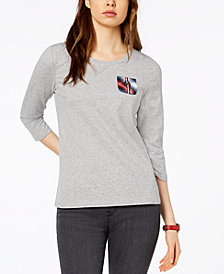 Tommy Hilfiger 3/4-Sleeve Pocket T-Shirt