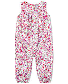 Ralph Lauren Baby Girls Floral Cotton Coverall