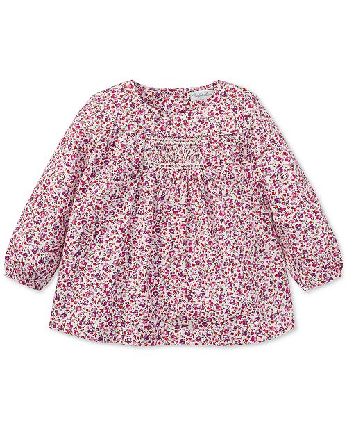 Polo Ralph Lauren Ralph Lauren Baby Girls Smocked Floral Cotton