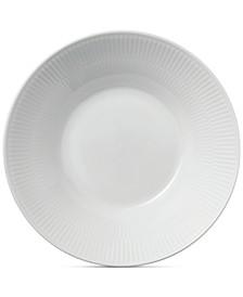 White Fluted Pasta Bowl
