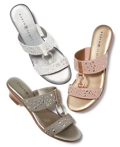 Karen Scott Eanna Sandals, Created for Macy's