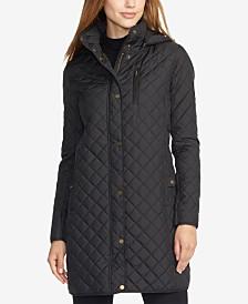 Lauren Ralph Lauren Petite Faux Suede-Trim Quilted Jacket, Created for Macy's